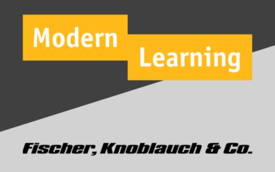 ModernLearning und Fischer, Knoblauch & Co. sind jetzt Partner